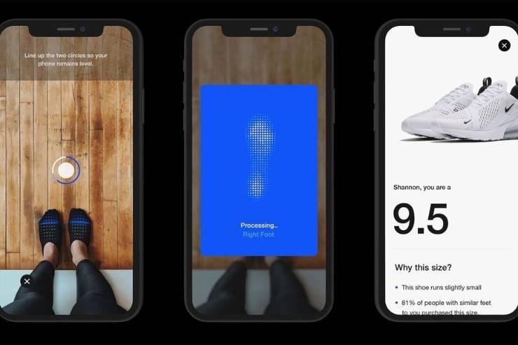 耐克的新应用程序使用AR测量你的脚,向你出售适合你的运动鞋