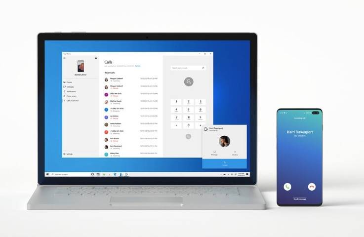 """微软的""""你的手机""""应用程序现在可以将电话从安卓手机转接到你的电脑上"""