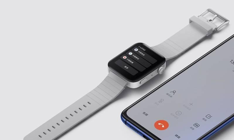 小米的小米手表与苹果手表相似,售价仅为185美元