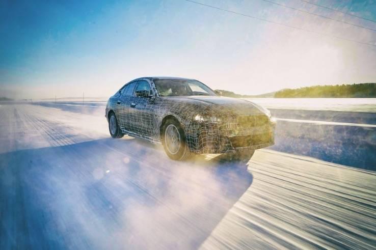 寶馬在測試中推出i4電動汽車,承諾行駛里程近400英里