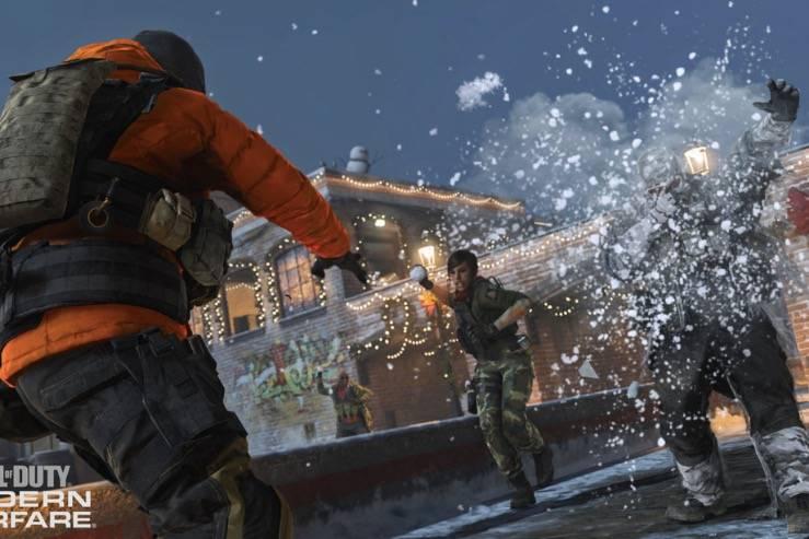 使命召唤:现代战争的假日更新将允许玩家用枪换雪球