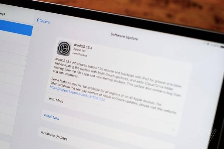 你可以尝试iPad的新触摸板和鼠标支持现在与苹果公测
