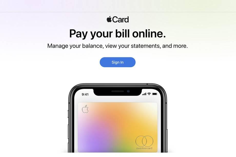 Apple Card现在有了一个网站,可以让你支付账单