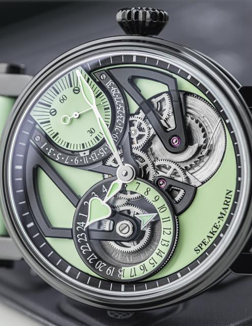 英国手表品牌Speake-Marin推出薄荷绿Dual Time Mint腕表