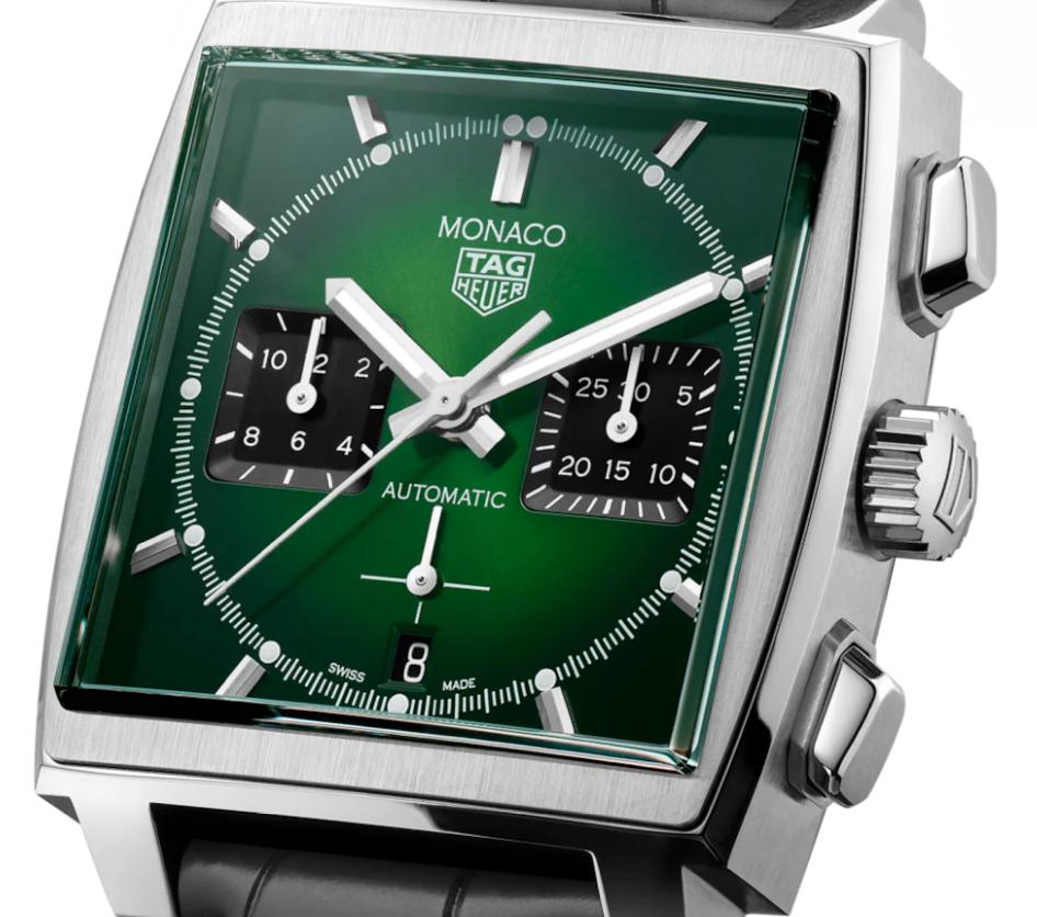 泰格豪雅推出全新摩纳哥系列限量版祖母绿色表盘腕表