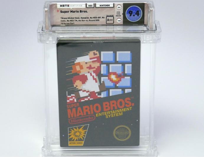 美国最早的游戏版本之一《Super Mario Bros.》绝版游戏片以55 万美元售出