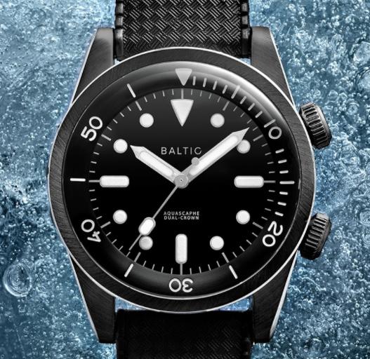 小众制表品牌Baltic发布了Aquascaphe潜水手表双冠款