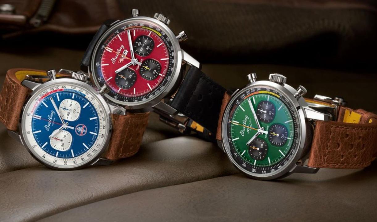 百年灵推出了新的三重奏计时腕表