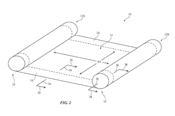 苹果公司申请了一项可弯曲可滚动显示屏的专利