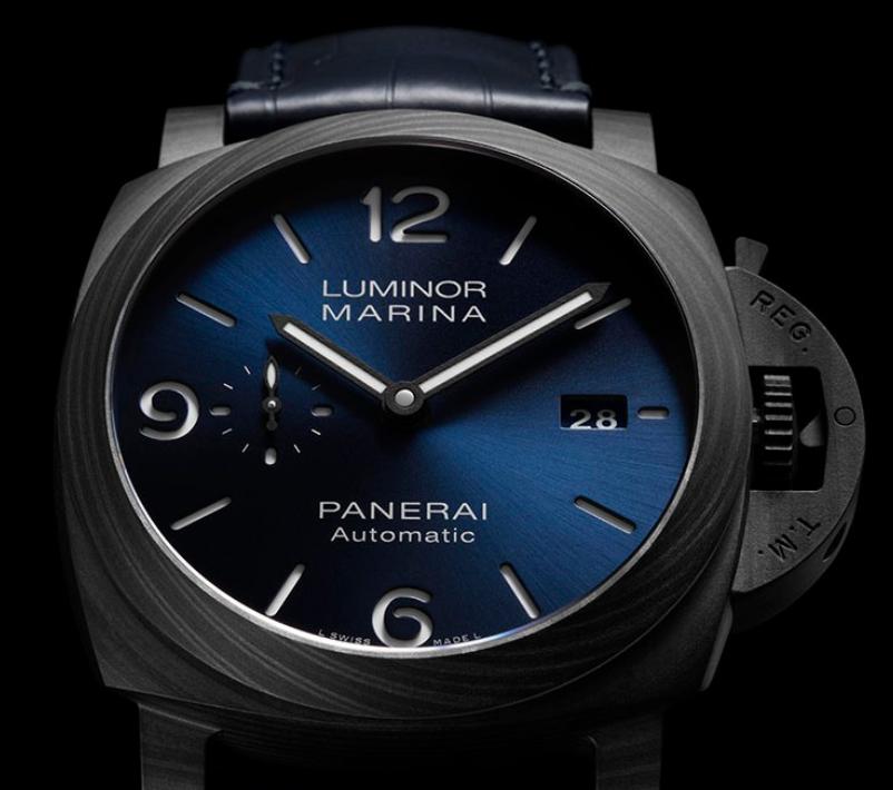 沛纳海推出限量版Luminor Marina Carbotech Blu Notte腕表