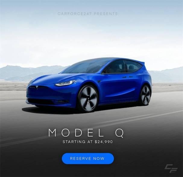 特斯拉Model Q来了 没有方向盘还超实惠